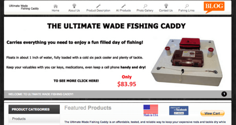 The ultimate wade fishing caddy custom web design by for Wade fishing caddy